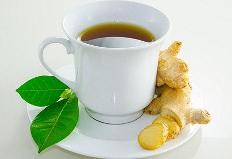 Infusión de té con jengibre